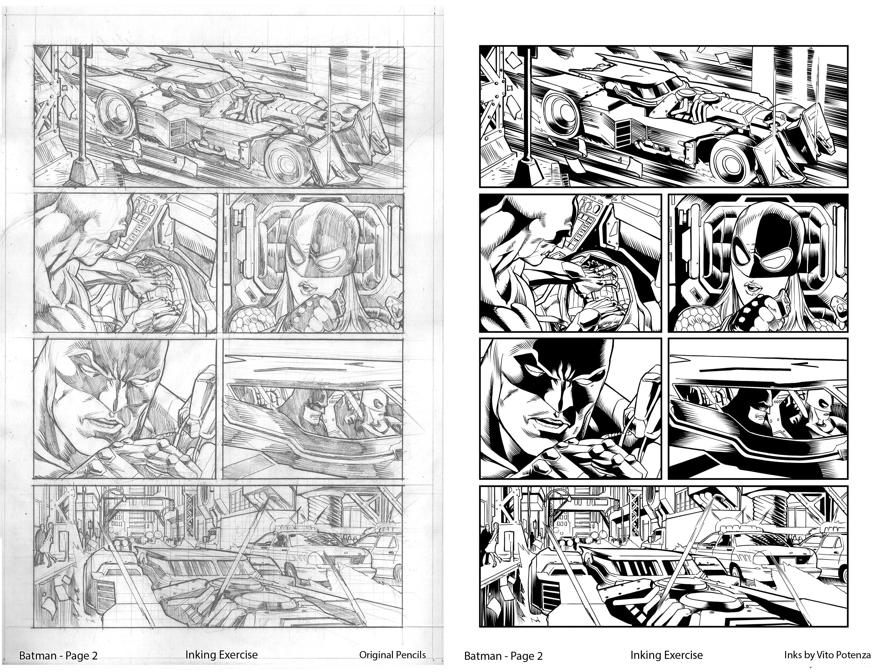 Batman Page 2 - Inked by me