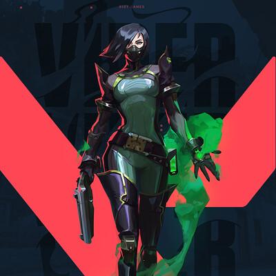 Atey ghailan valorant viper 4
