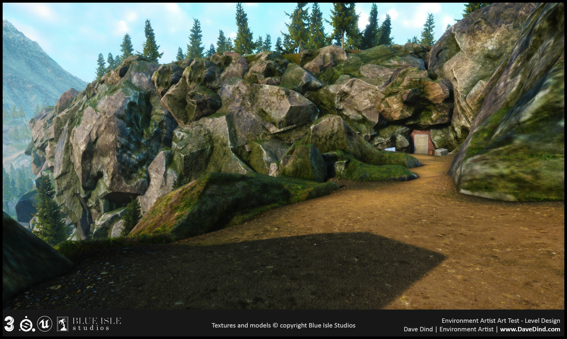 The house asset seen in the other images was used to create a hidden entrance to a possible underground facility