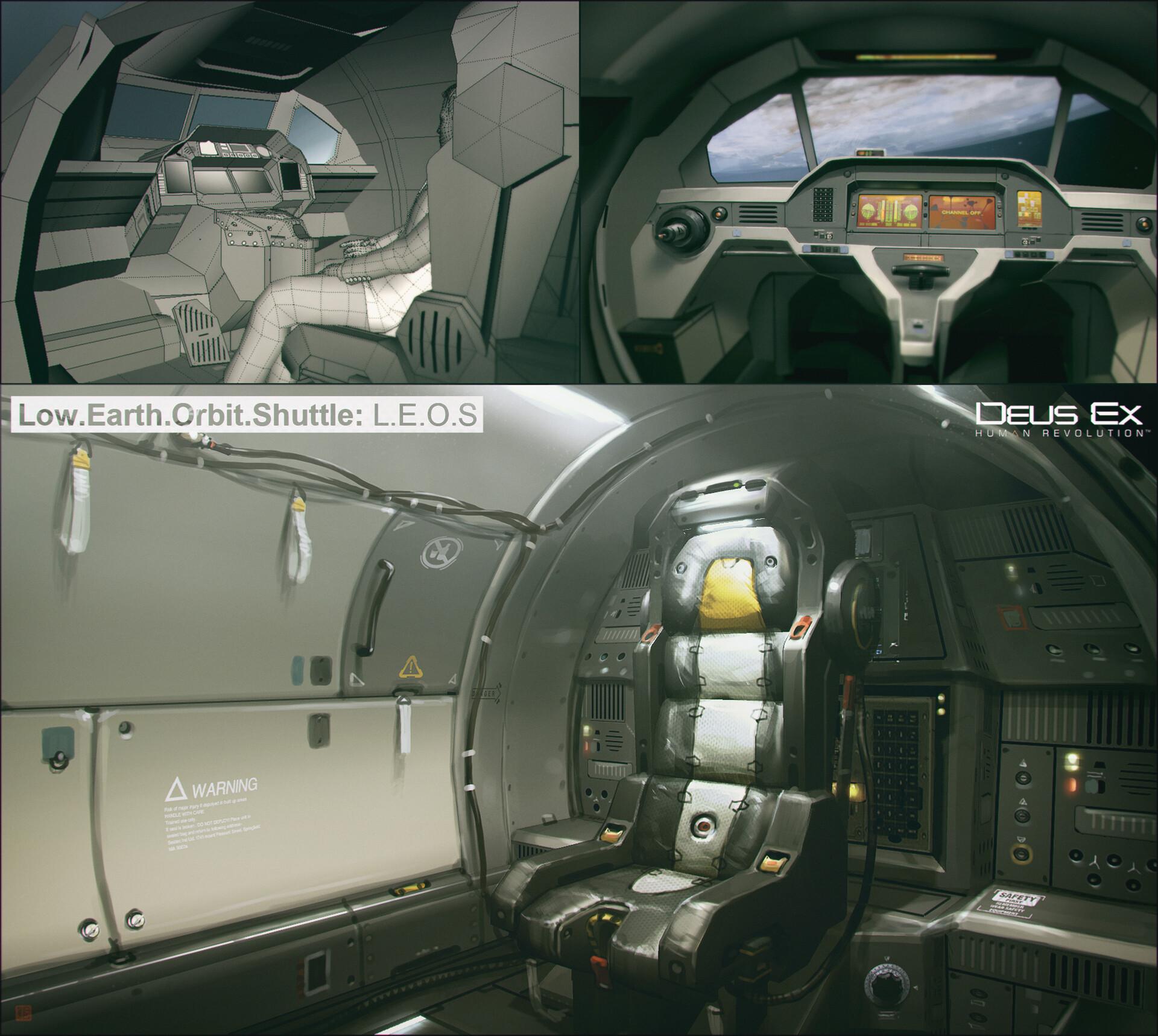 interior of the L.E.O.S  (escape pod)...