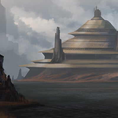 Micah brown jedi temple concept art 2