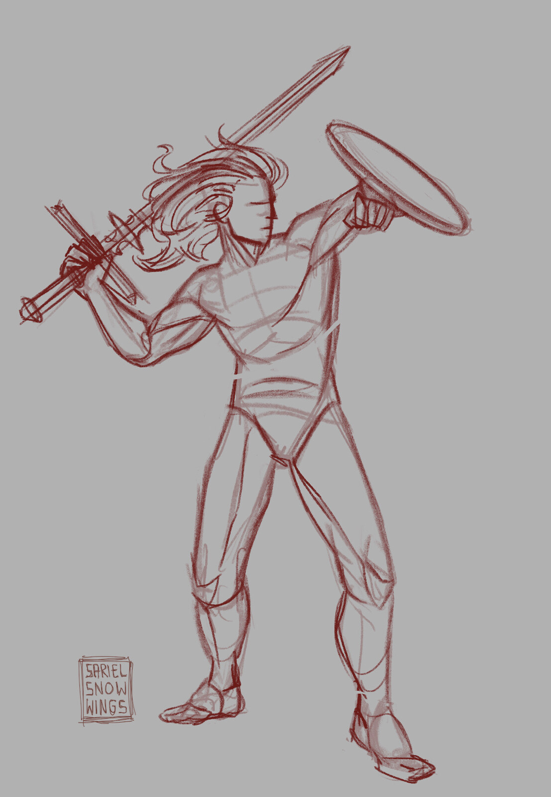 Sketch of the final pose