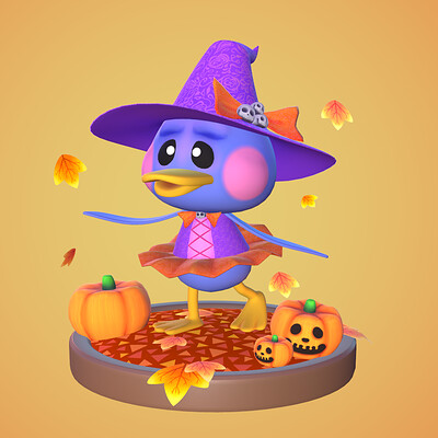 Animal Crossing Fan Piece - Halloween Pate