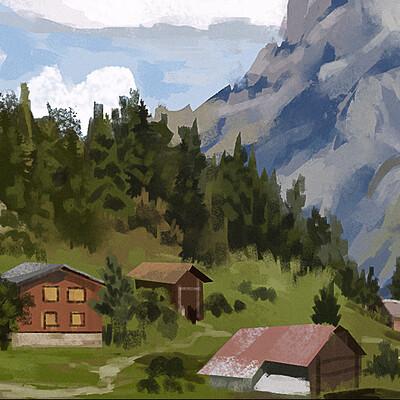 Taha yeasin day 147 landscape study