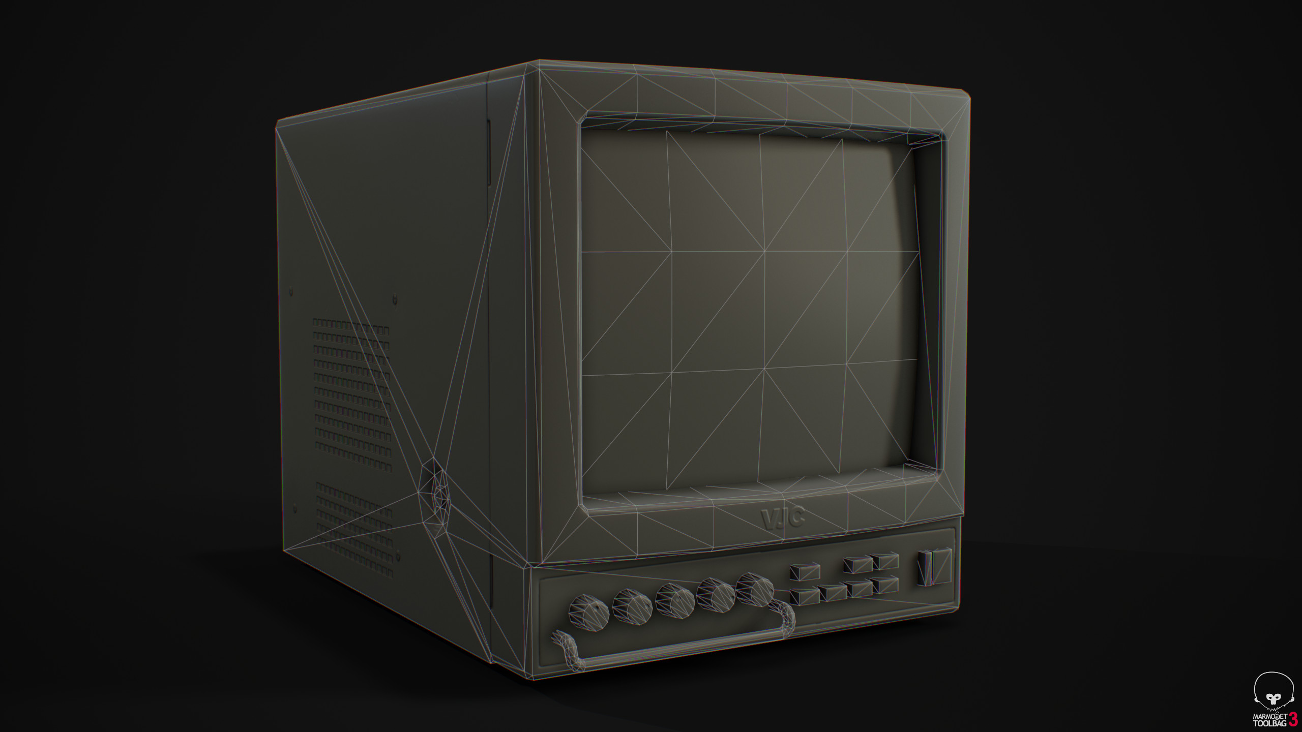 Monitor - Wireframe front