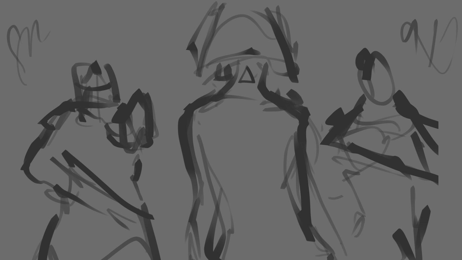 Initial scribble