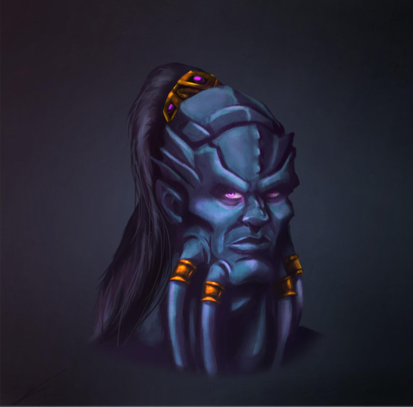 Draenei Face  World of Warcraft