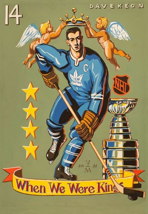Homage to the great Maple Leaf captain Dave Keon.