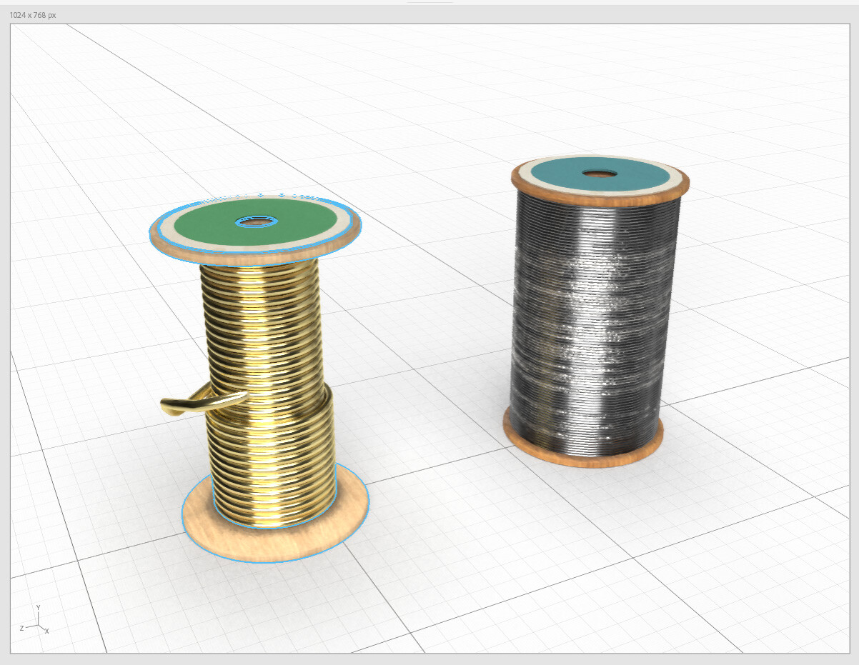 Wire for armature in different gauges.