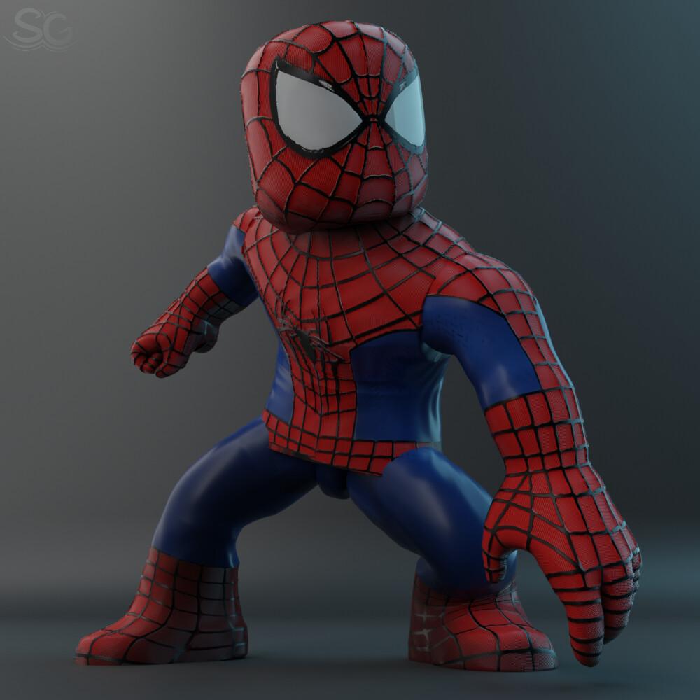 Spiderman In Roblox Artstation Spiderman Roblox Render Softgb