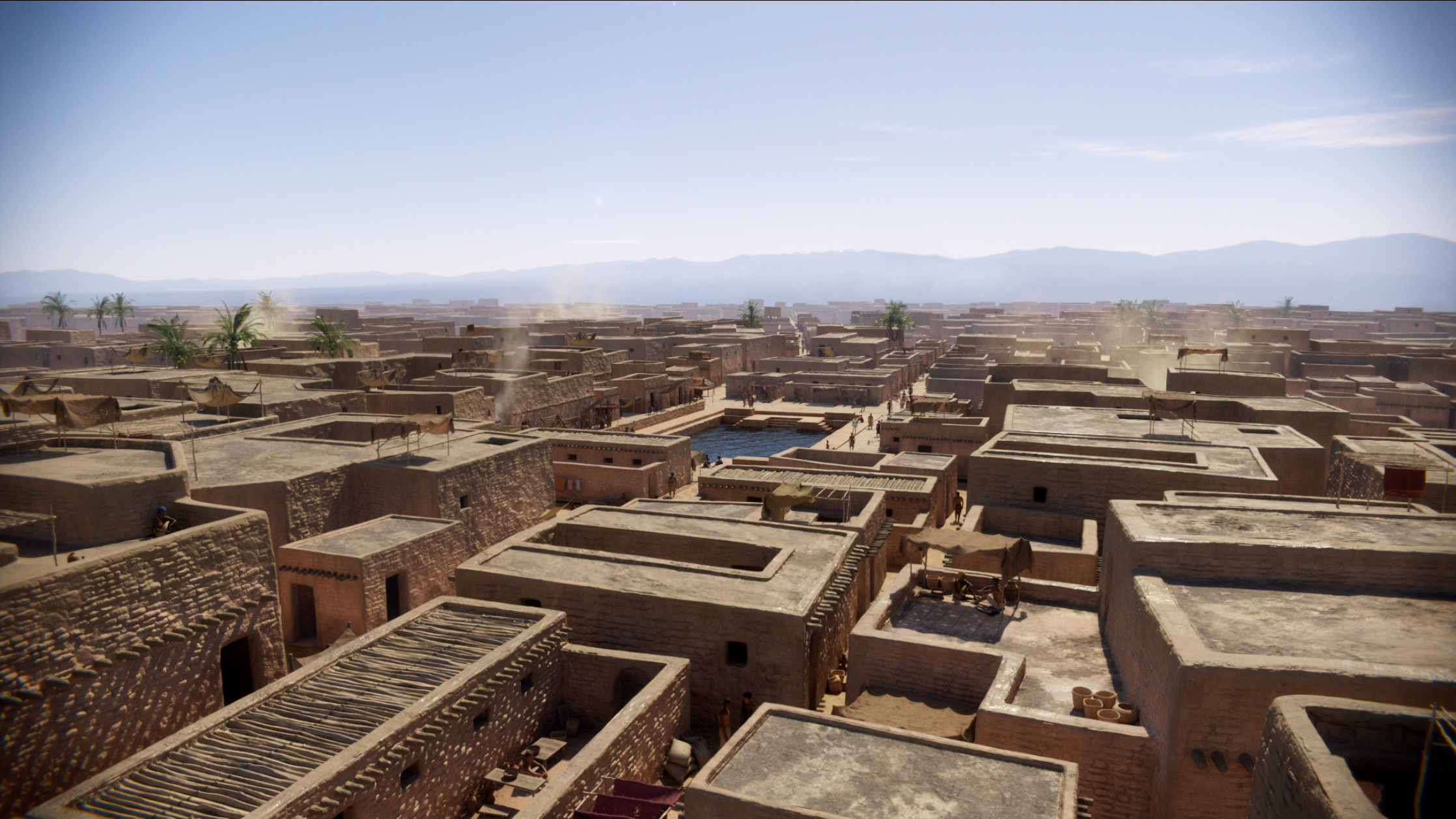 Mohenjo-daro final comp frame. I was responsible for layout and concept of the city