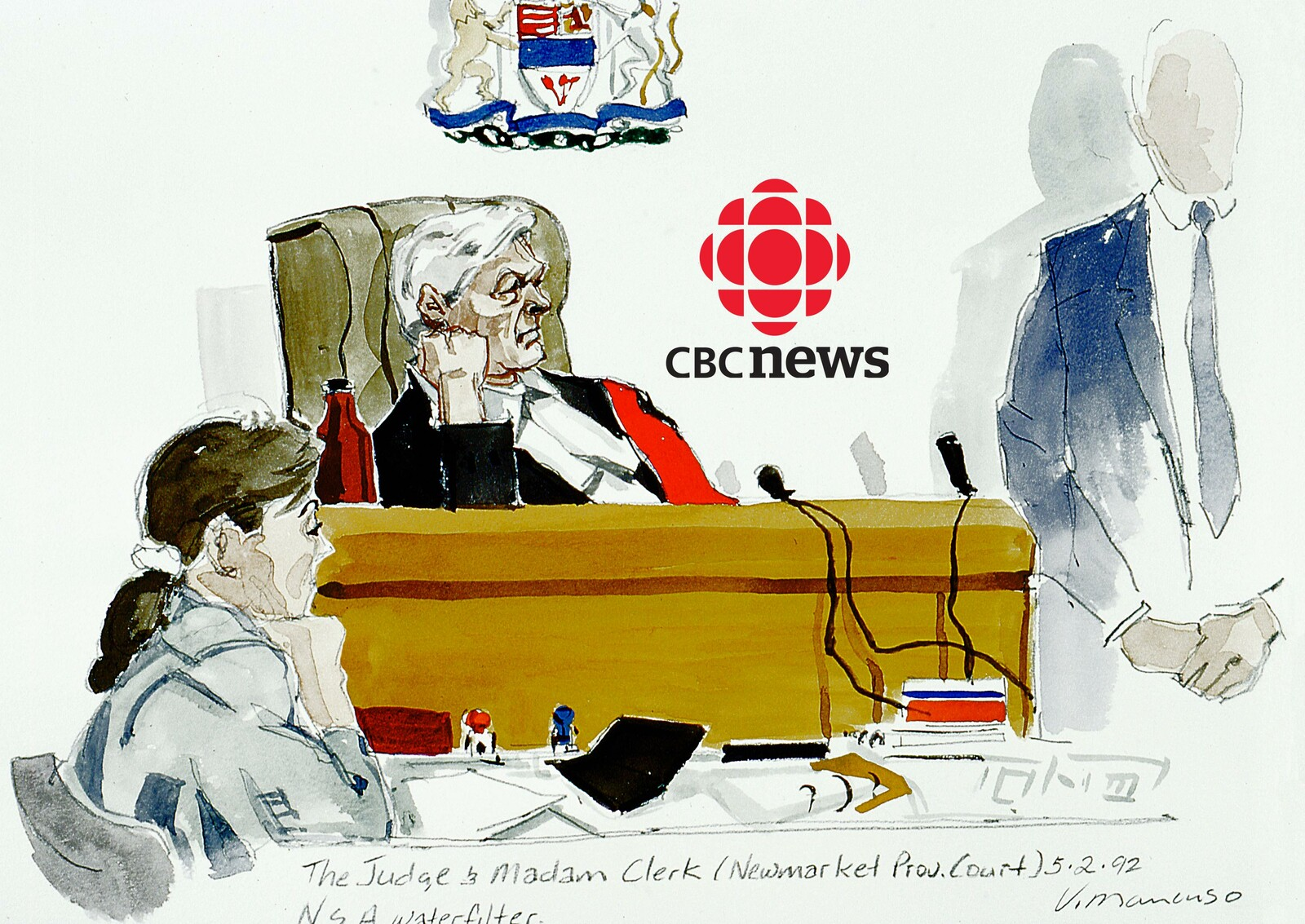 Courtroom Artist for CBC news at 6