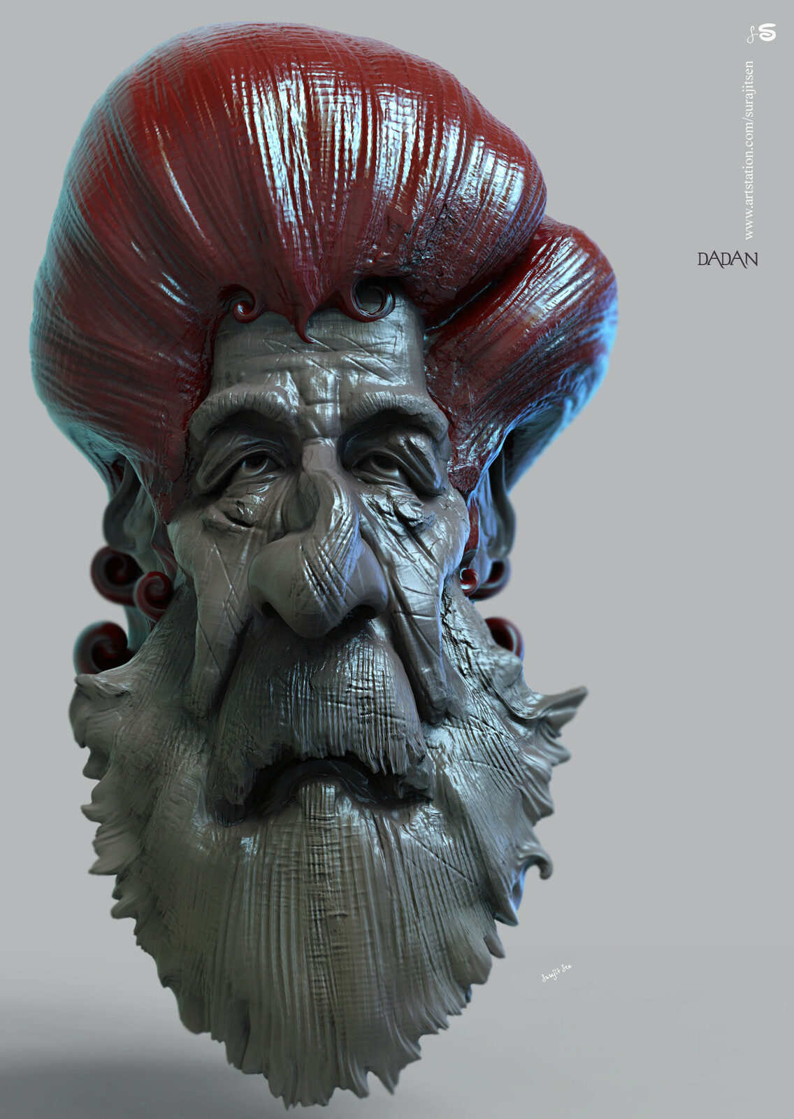 #doodle My weekend doodle.... Played with brushes. Dadan Digital Sculpture.