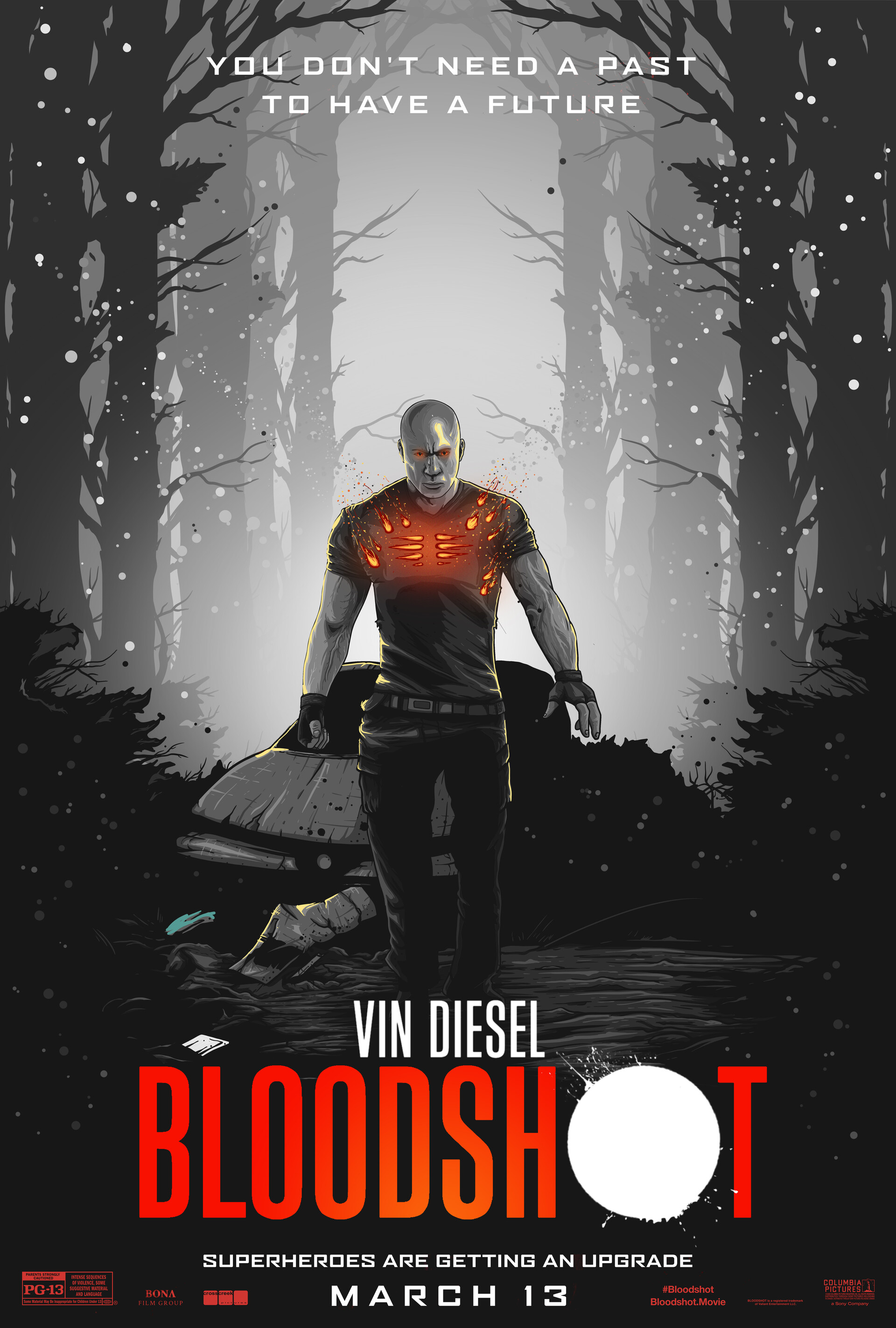 Bloodshot - B&W