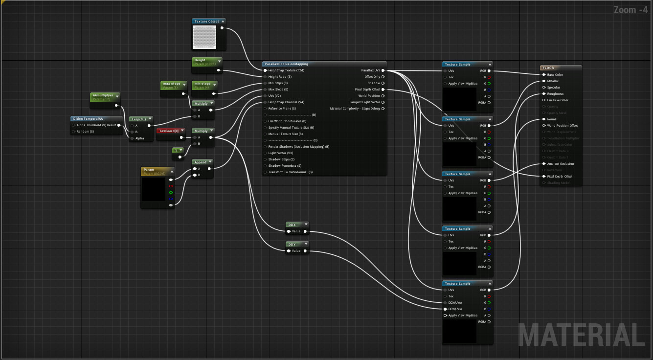 UE4 - ParallaxOcclusionMapping