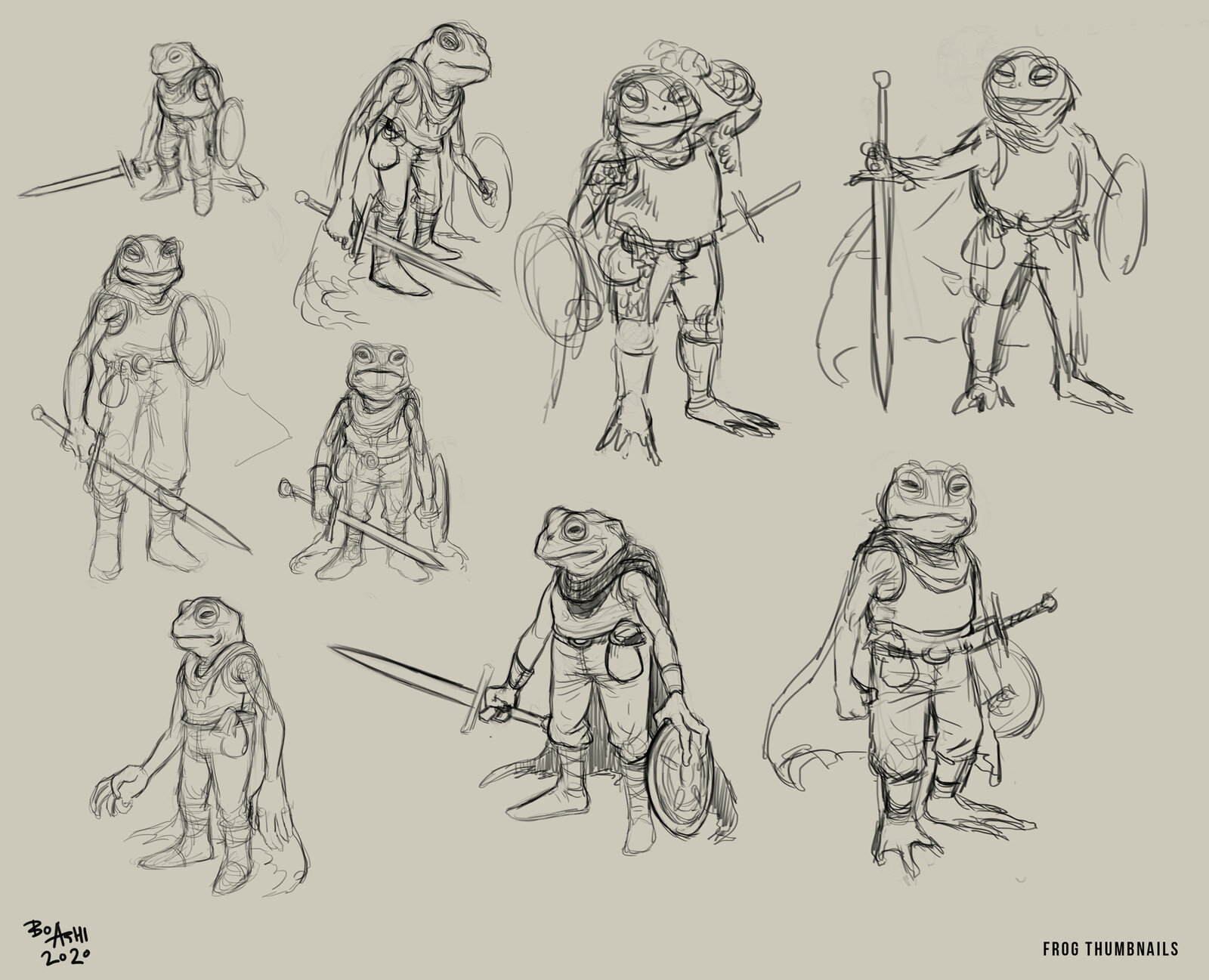 Thumbnails and sketches