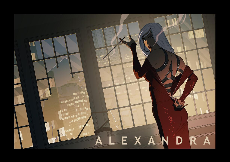 Alexandra Mercer, a noir super spy? I can't remember