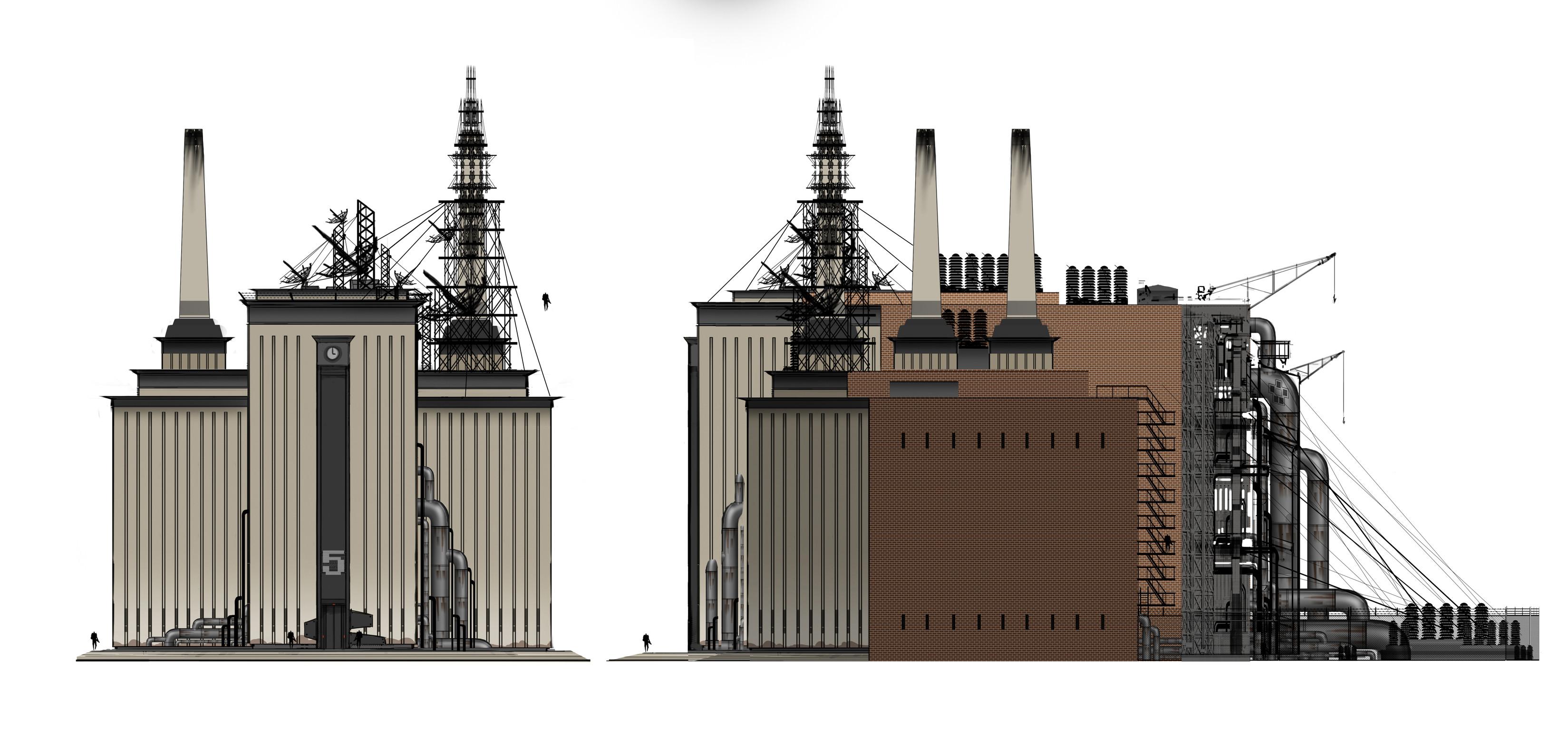 A demo area we built. Power plant.