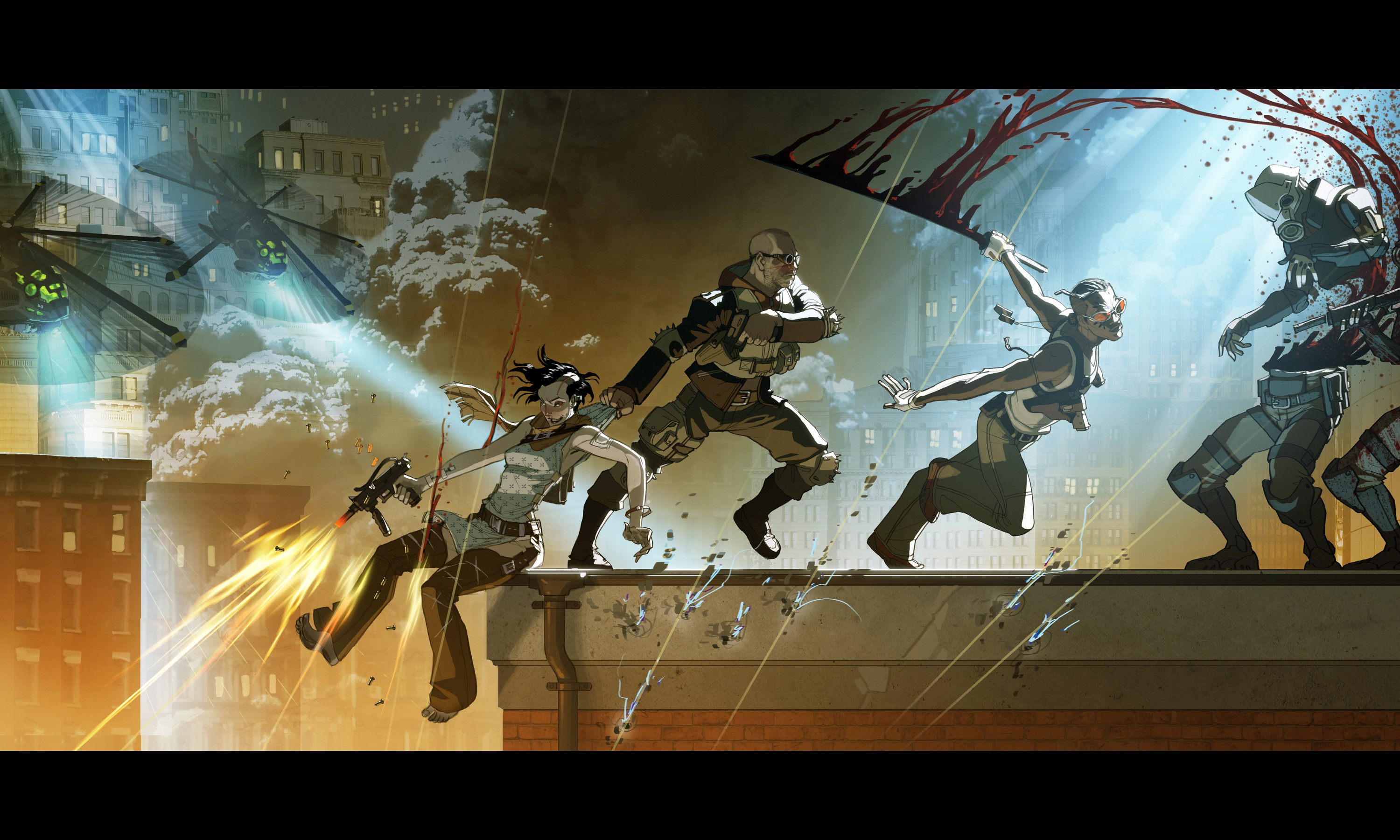 My favorite image from Revolver. Teamwork, action, fun.