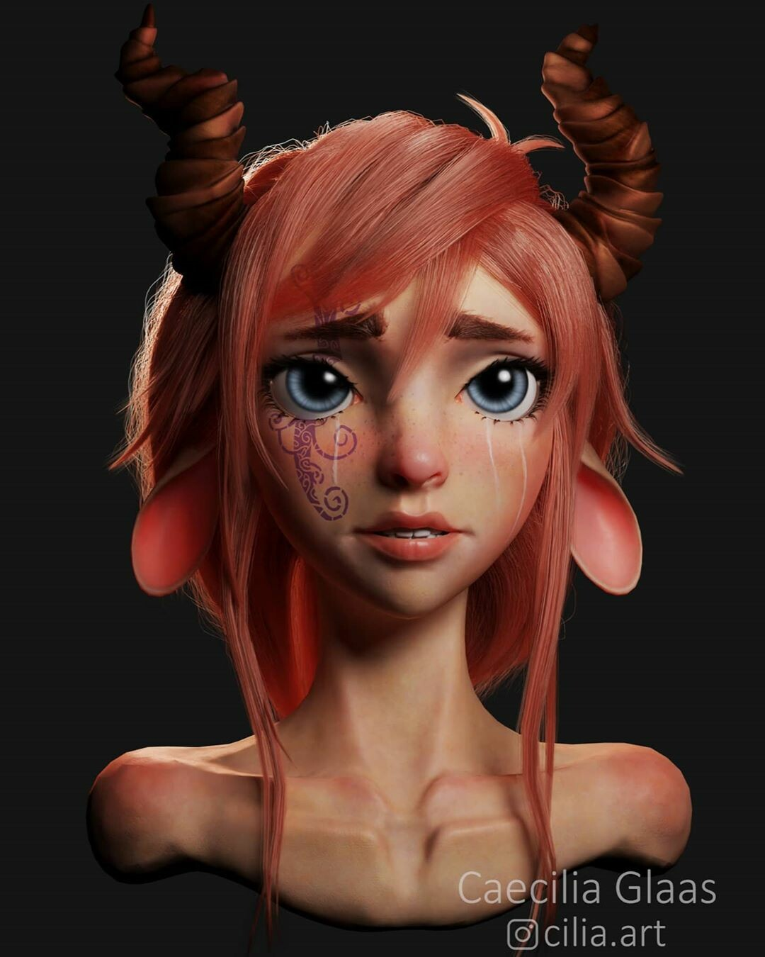Fanart - 3D model created by Caecilia Glaas