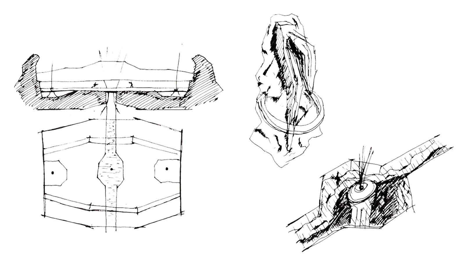 Original conceptual sketches