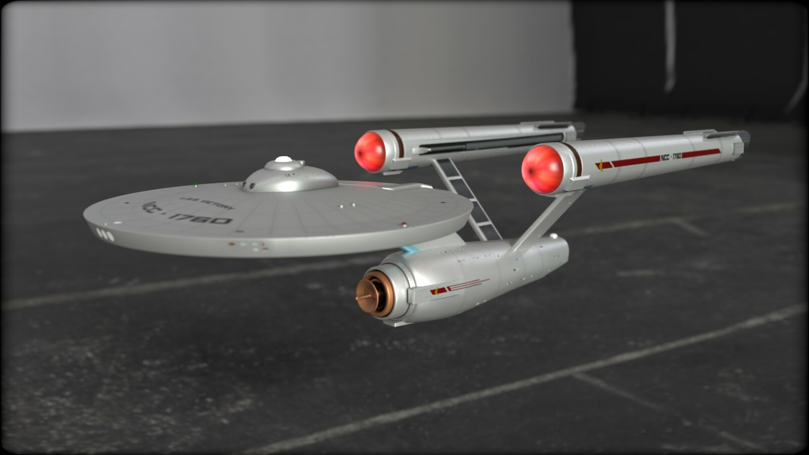 """Franz Joseph Designs """"Constitution"""" Class Starship Modeled for Virtual Reality Experience"""