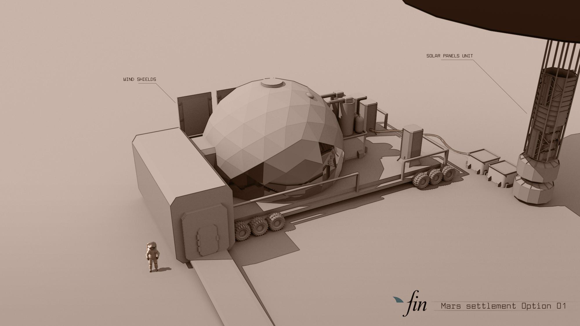 Mars settlement variation 01