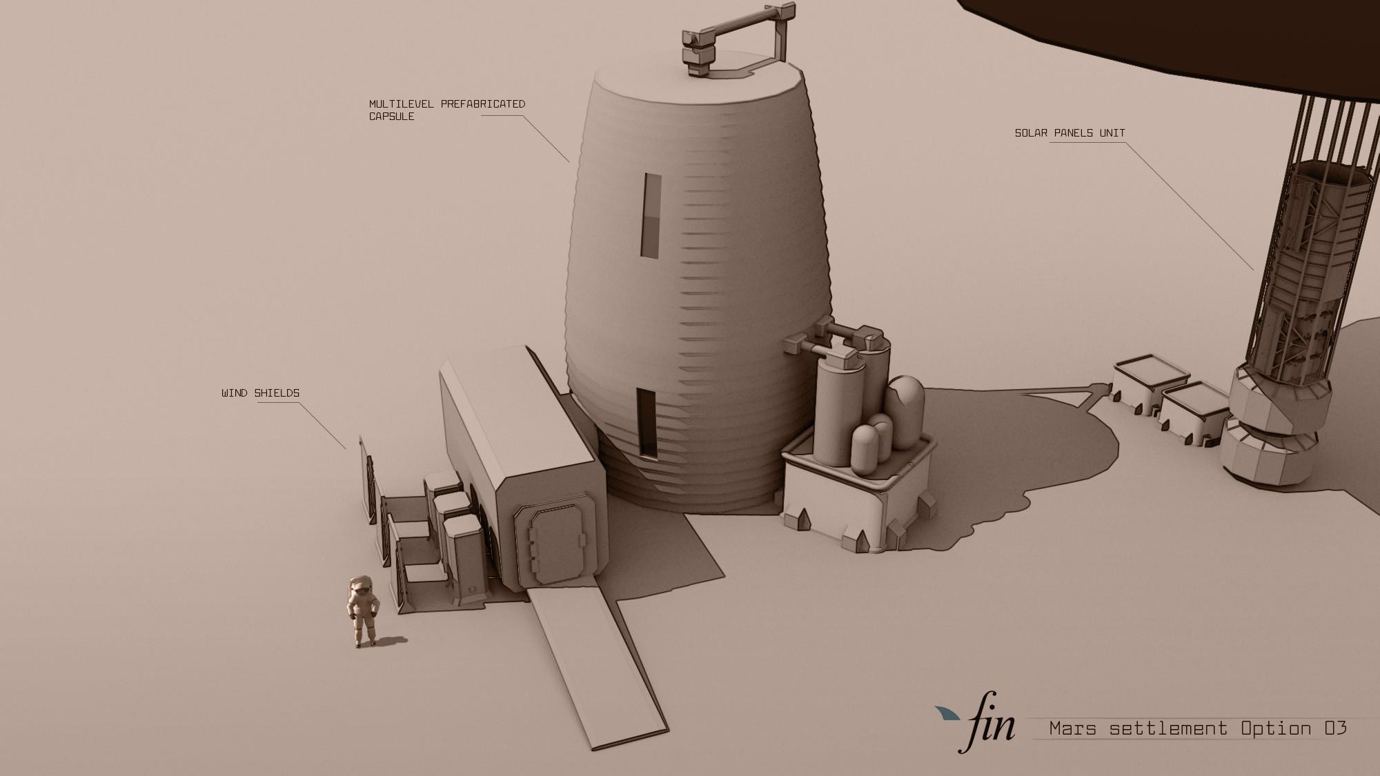 Mars settlement variation 03