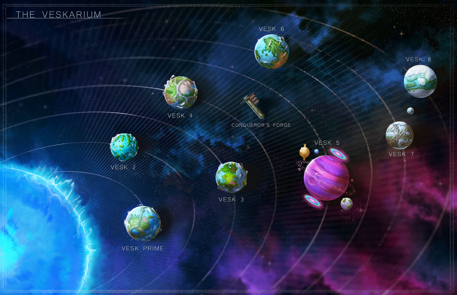 Each planet has its own illustration!