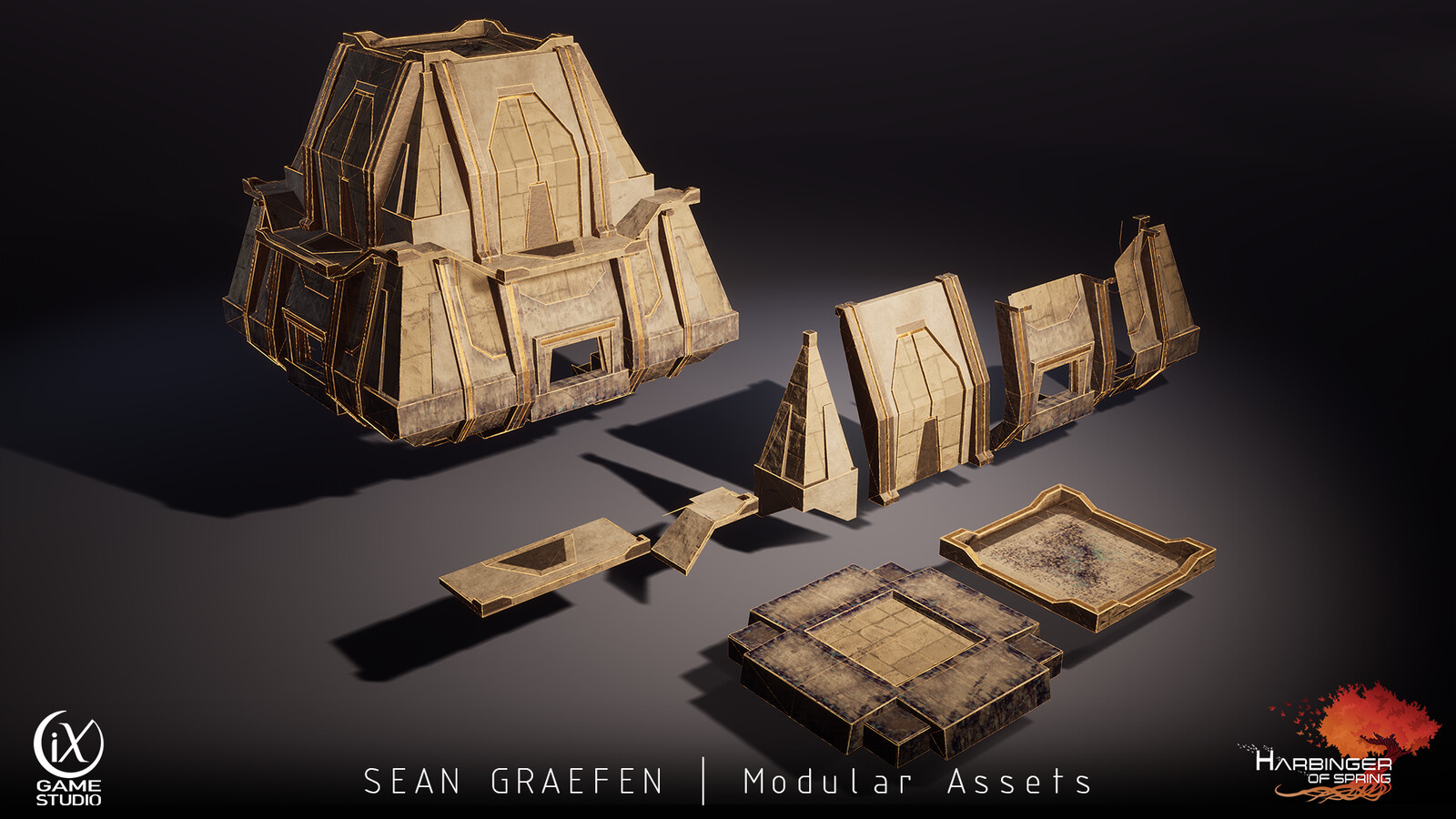 Here's the modular set for the Pyramid exterior I worked on.
