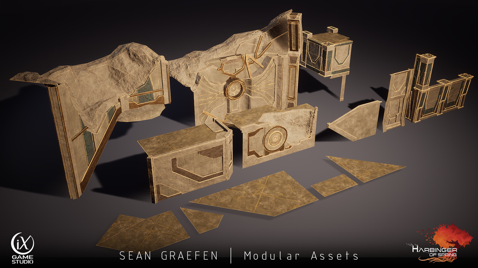 Here's the modular set I created from the Excavation Room.