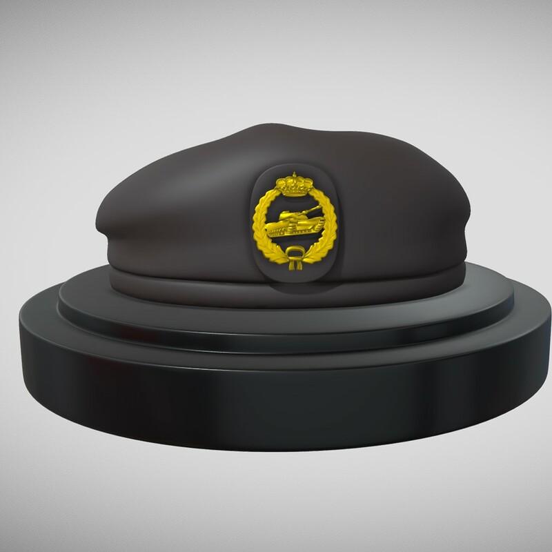 Spanish Army Beret -  3d Print