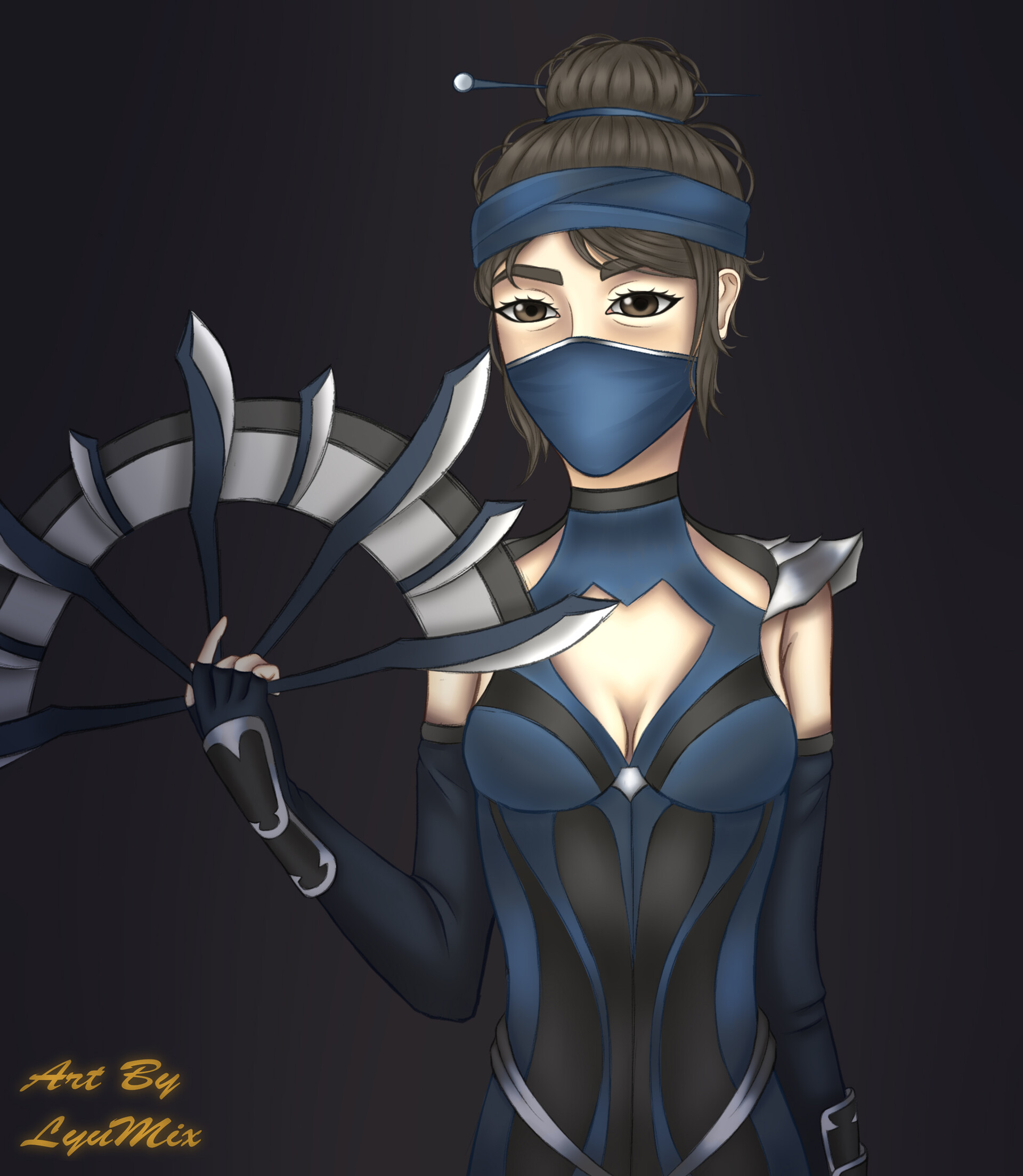 Artstation Mortal Kombat 11 Fanart Kitana With Mask 01 05 19