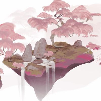 Samanae   tree on an island2