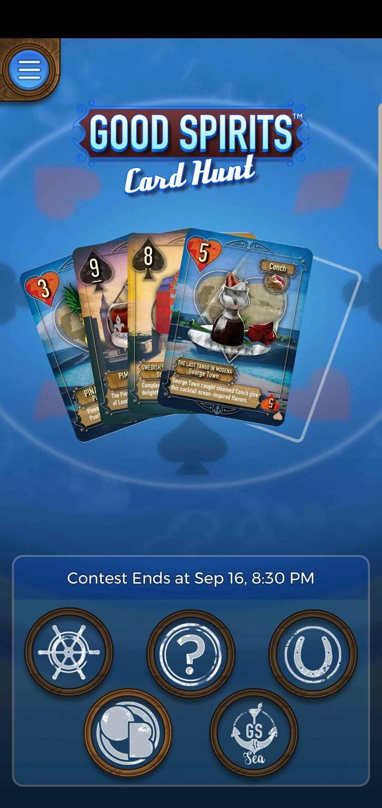 In-App screenshot featuring my card designs.