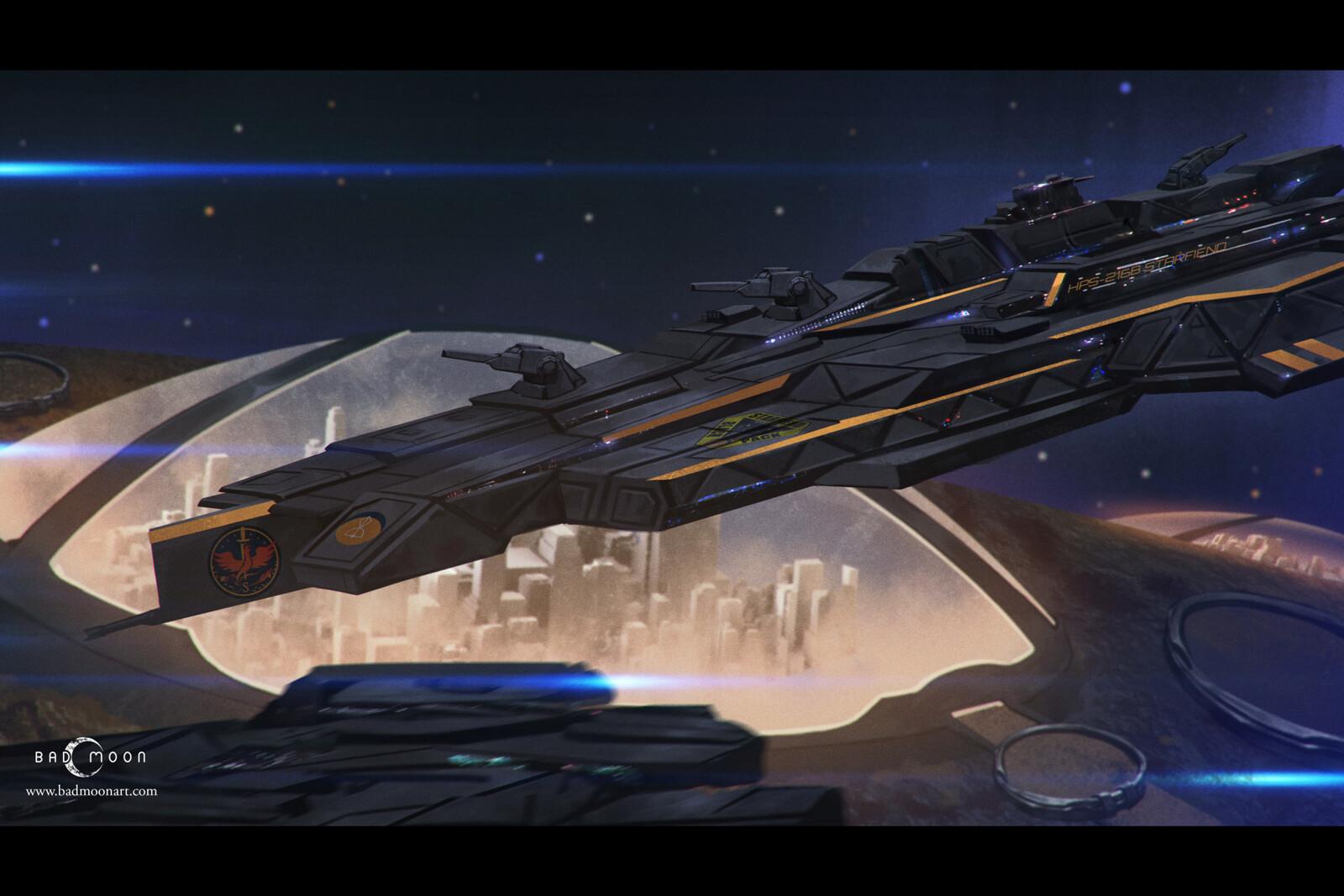 Spaceship Illo