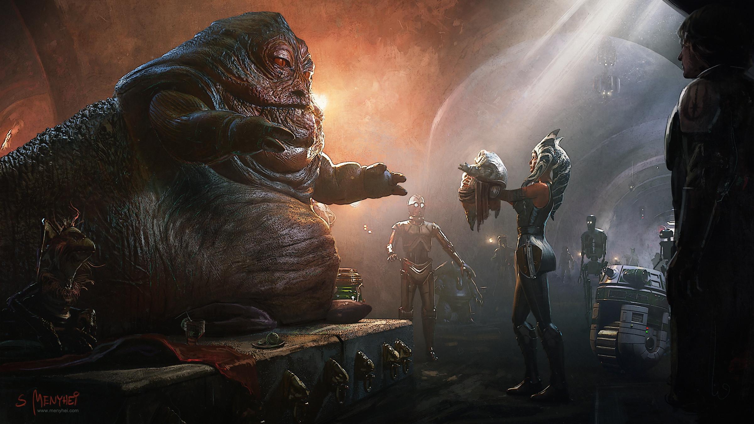 Ahsoka Tano returns Rotta the Huttlet to his father, Jabba