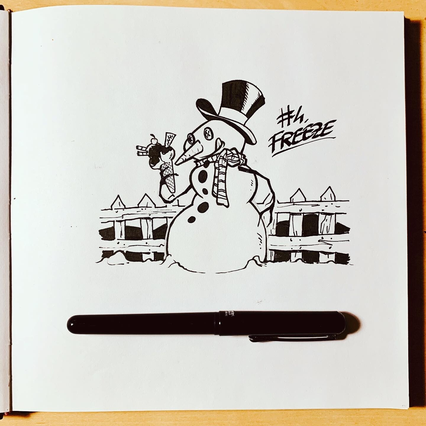 Inktober 2019: #4. Freeze