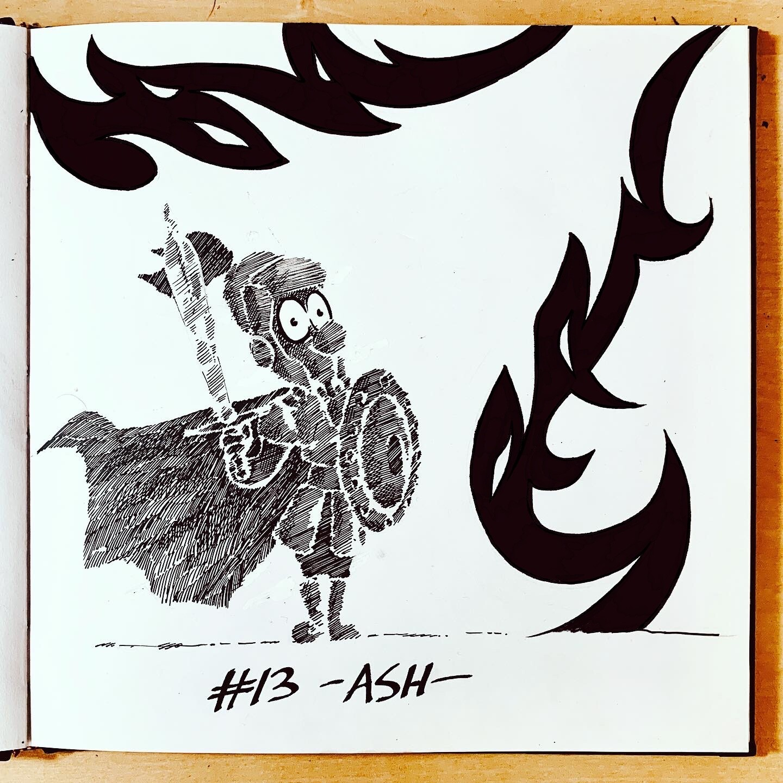 Inktober 2019: #13. Ash