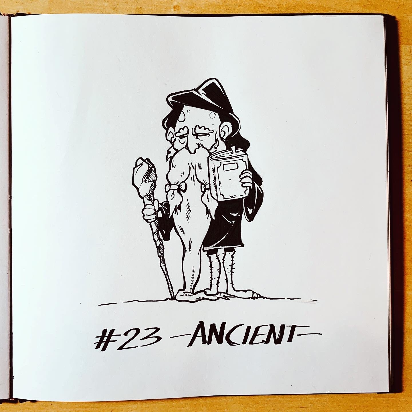 Inktober 2019: #23. Ancient