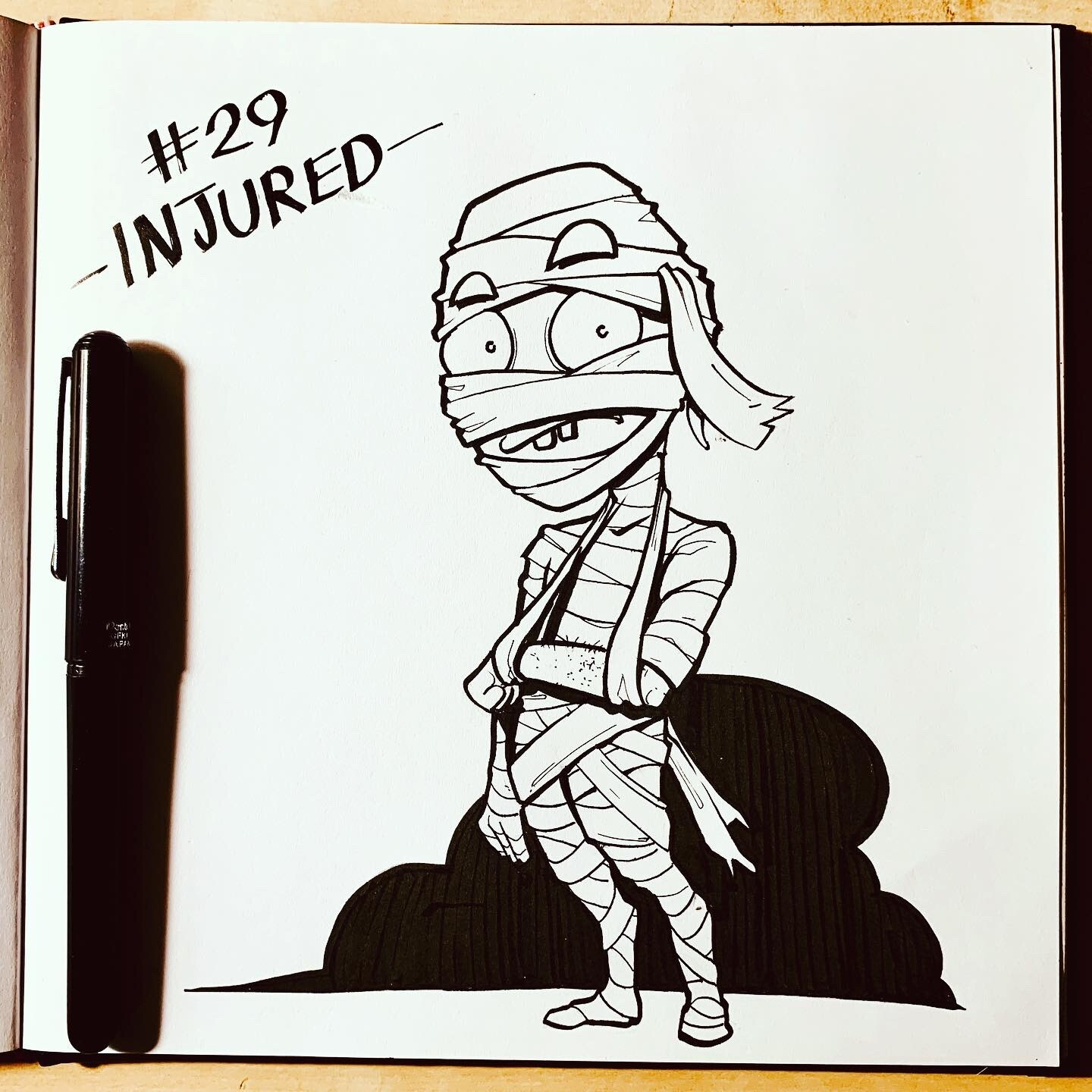 Inktober 2019: #29. Injured