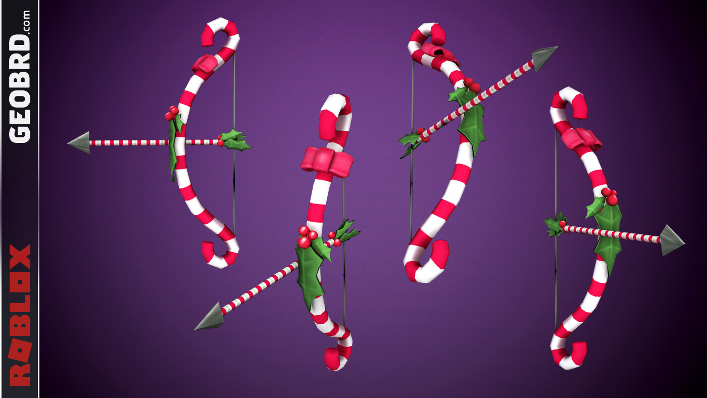 Christmas Candycane Bow and Arrow