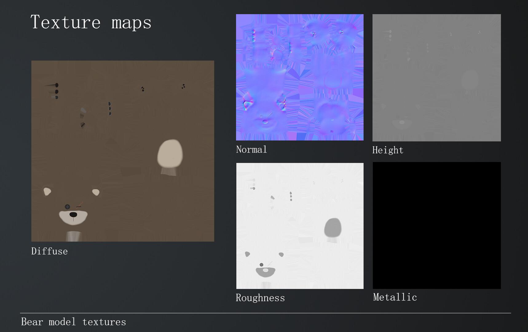 Bear texture maps