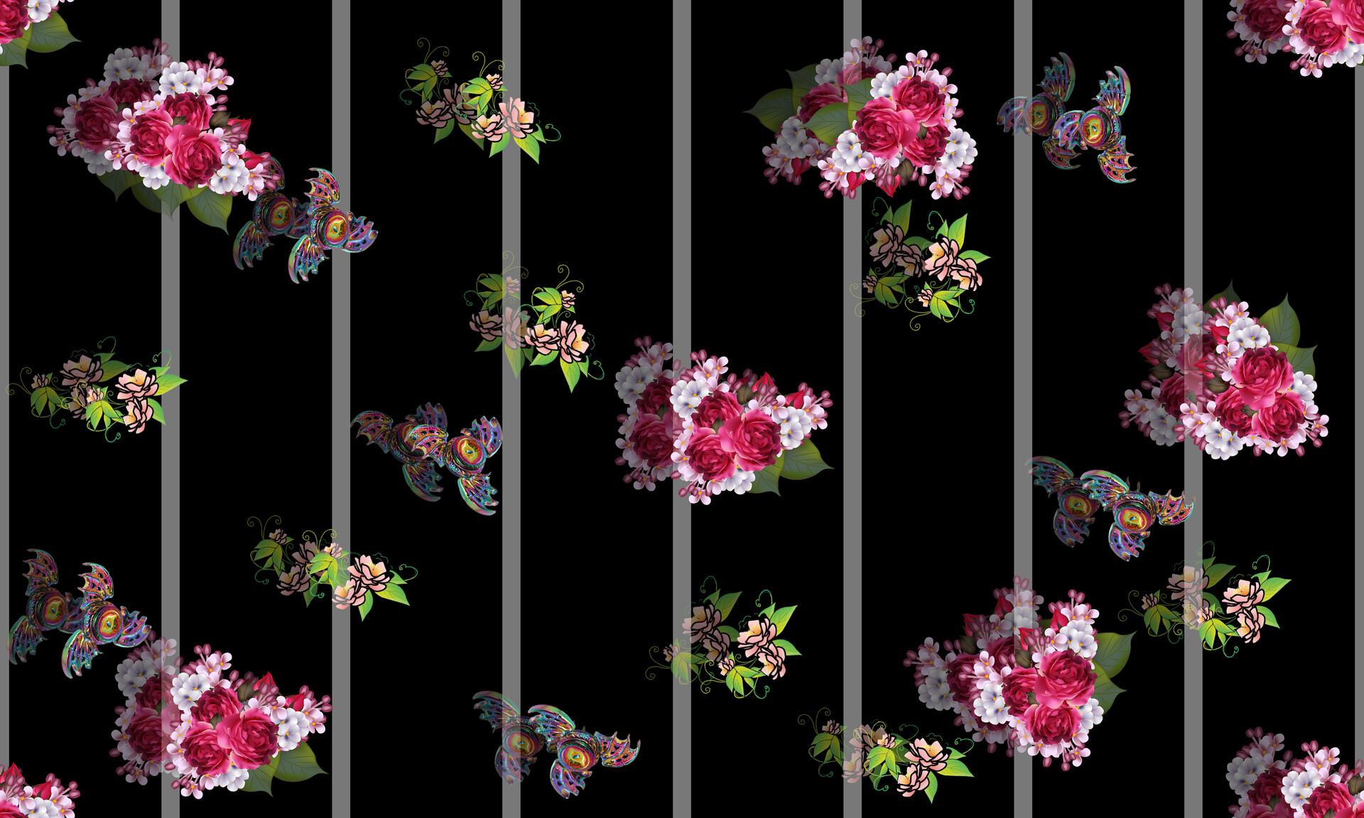 eon the art studio eon the art studio seamless pattern small wild blue flowers on a black background