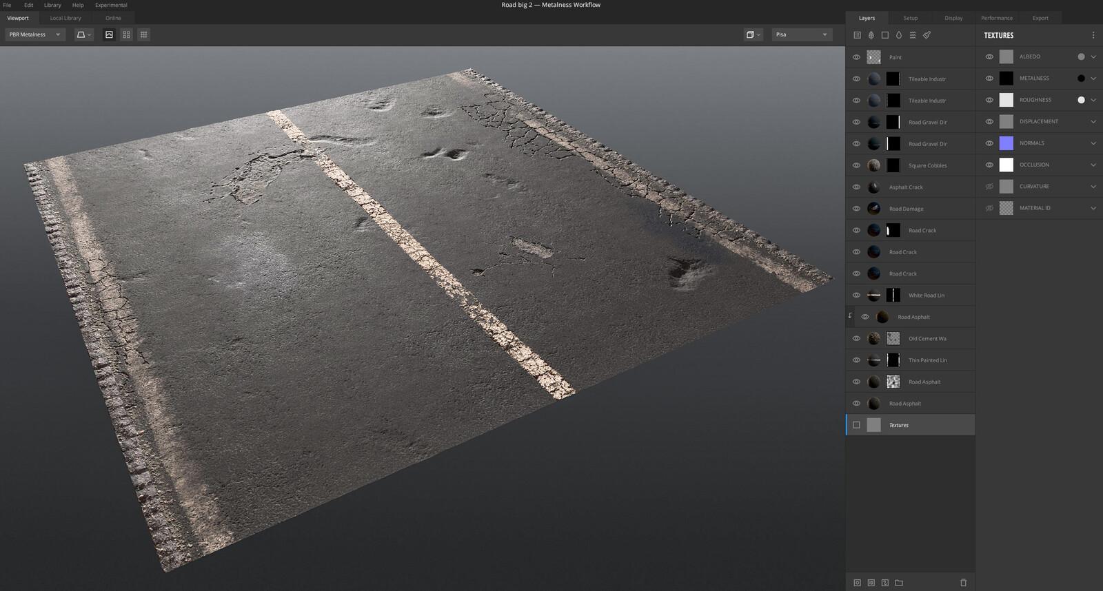 Quixel Mixer viewport