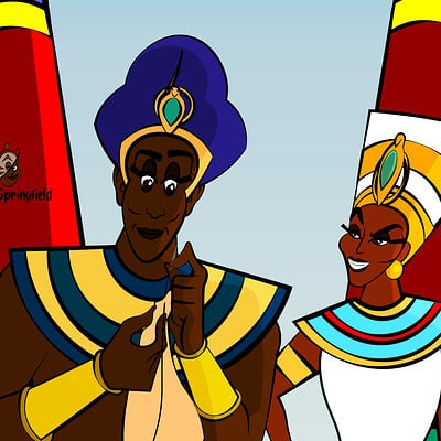 Larry springfield pharaoh and queen