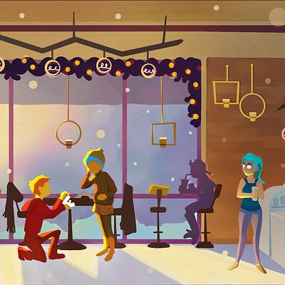 Vivien lulkowski cafe scene