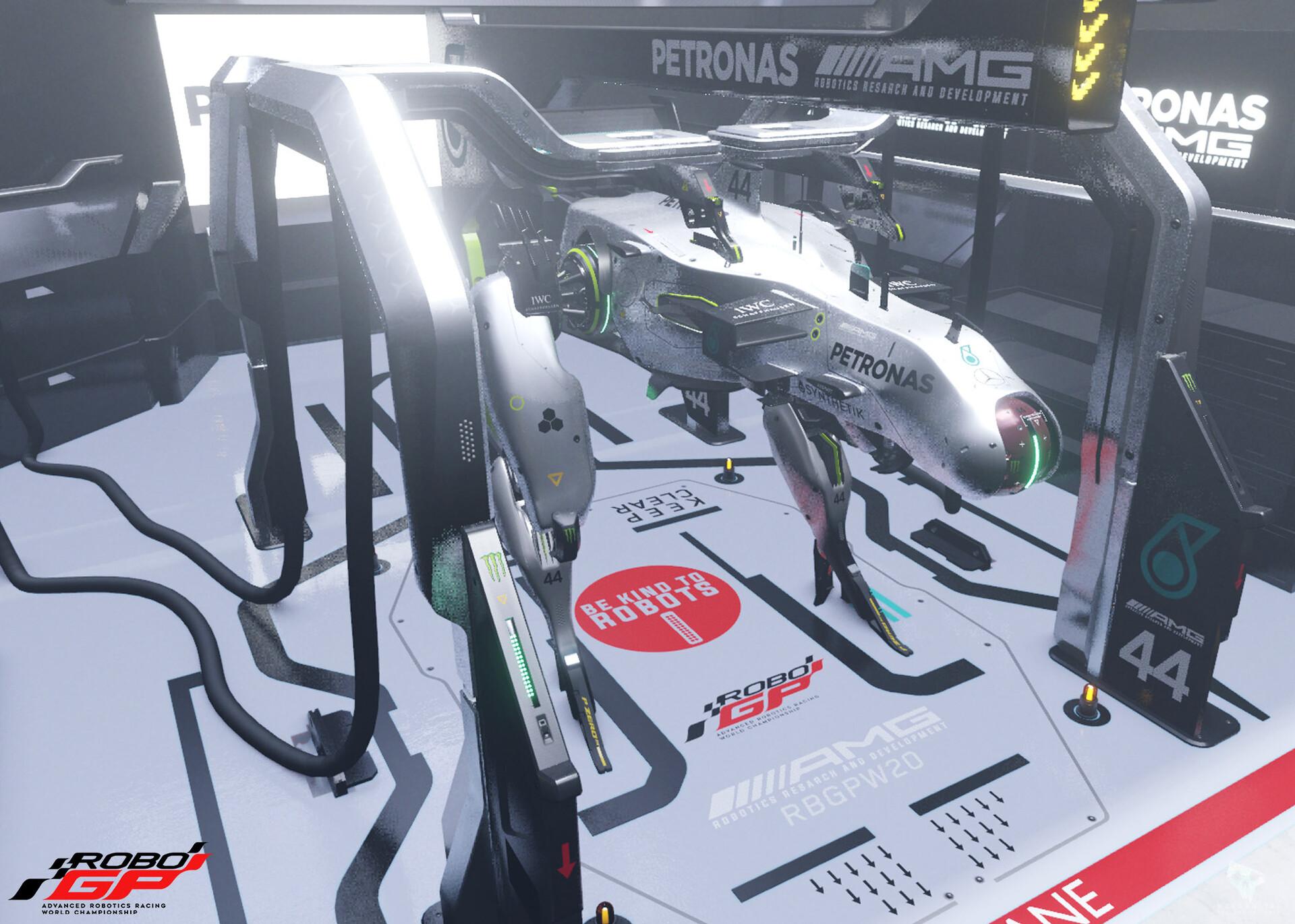 blender viewport - shiny garage