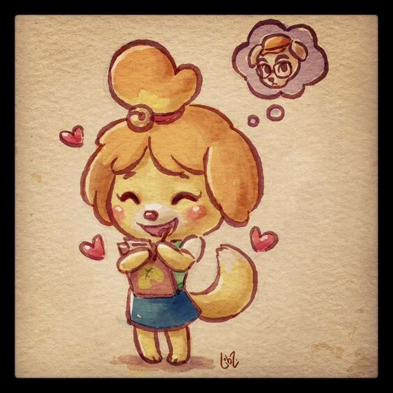 Isabelle was based on this adorable 2D piece by @liiibz.