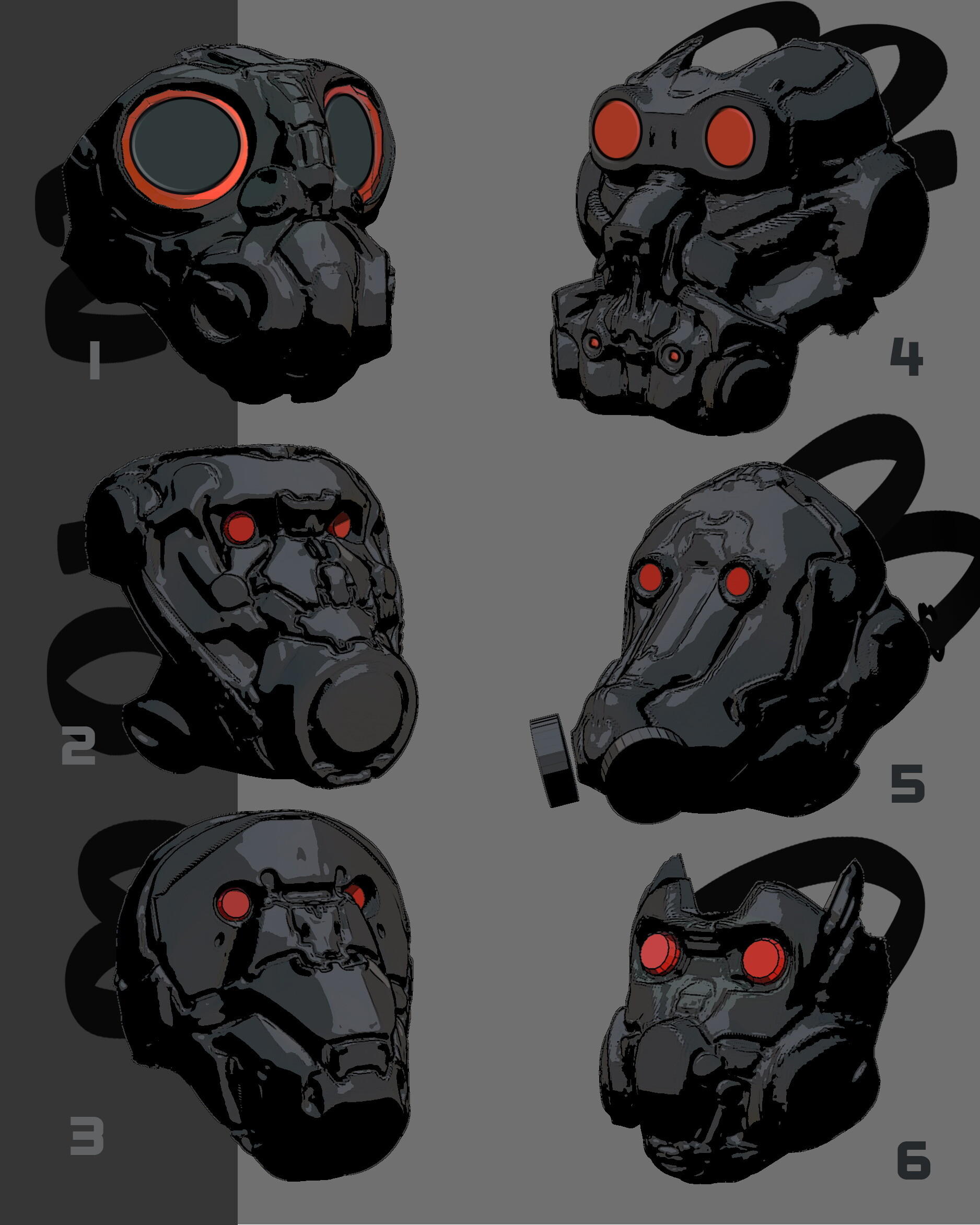 Initial 3D Concepts. Number 4 Was Voted.